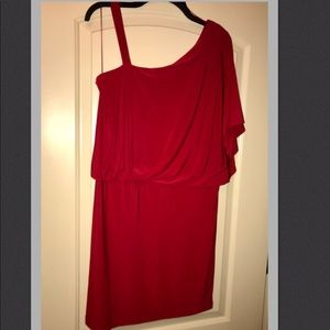 One Shoulder Dress Red Cocktail or Casual